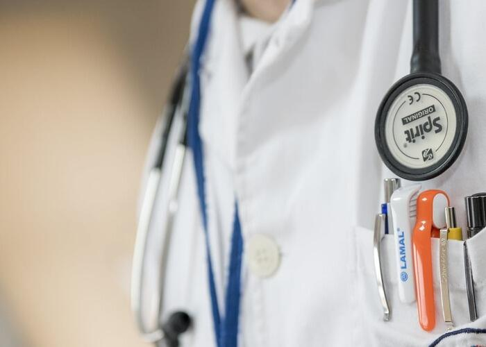 doctors jacket with stethoscope